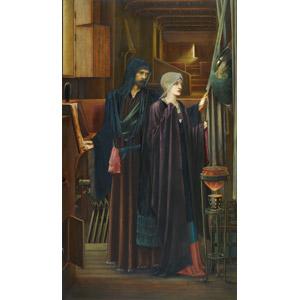 フリー絵画, エドワード・バーン=ジョーンズ, 物語画, シェイクスピアの作品, テンペスト, 魔法使い, ローブ