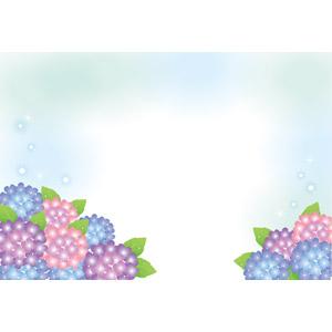 フリーイラスト, ベクター画像, EPS, 背景, 梅雨, 6月, 植物, 花, 紫陽花(アジサイ)
