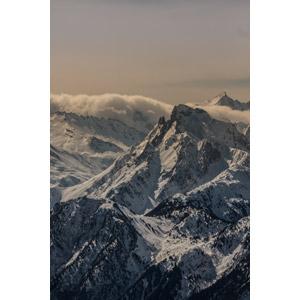 フリー写真, 風景, 自然, 山, 雲, 雪, アルプス山脈, フランスの風景