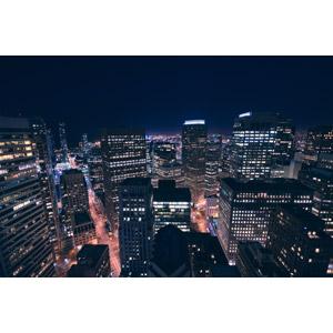 フリー写真, 風景, 建造物, 建築物, 高層ビル, 都市, 街並み(町並み), 夜, 夜景, アメリカの風景, カリフォルニア州, サンフランシスコ