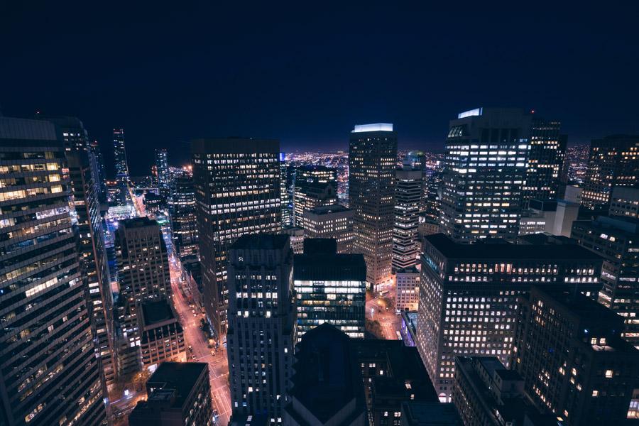 フリー写真 サンフランシスコの都市の夜景