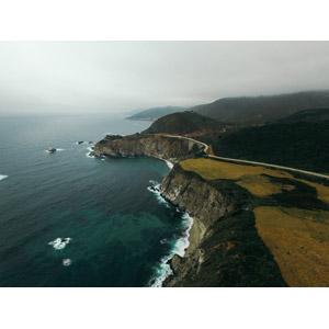 フリー写真, 風景, 海, 海岸, 橋, ビッグサー, アメリカの風景, カリフォルニア州