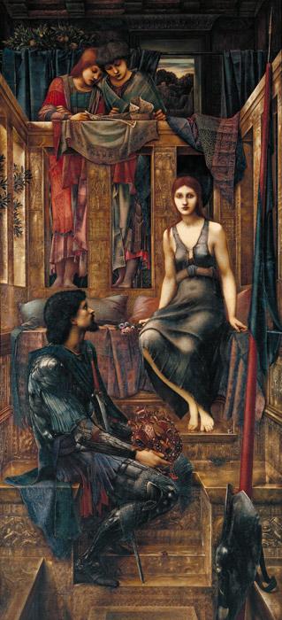 フリー絵画 エドワード・バーン=ジョーンズ作「コフェチュア王と乞食娘」