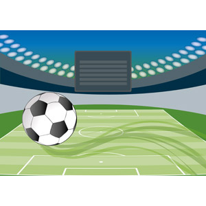 フリーイラスト, ベクター画像, AI, スポーツ, 球技, サッカー, サッカーフィールド, サッカーボール, サッカースタジアム
