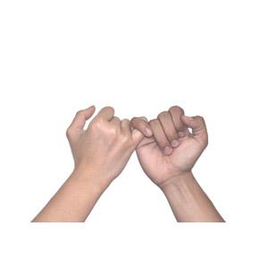 フリー写真, 人体, 手, 指切り, 約束, 白背景