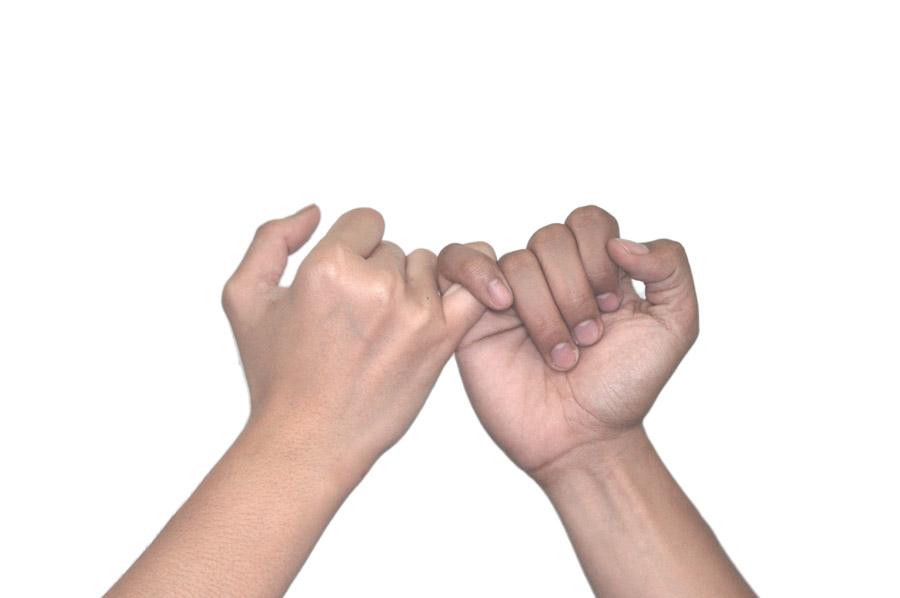 フリー写真 指切りする手と手