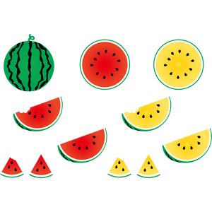 フリーイラスト, ベクター画像, AI, 食べ物(食料), 果物(フルーツ), 西瓜(スイカ), 夏
