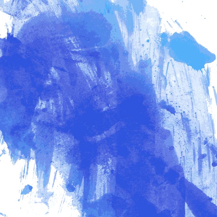 フリーイラスト 青色のペンキの汚れの背景