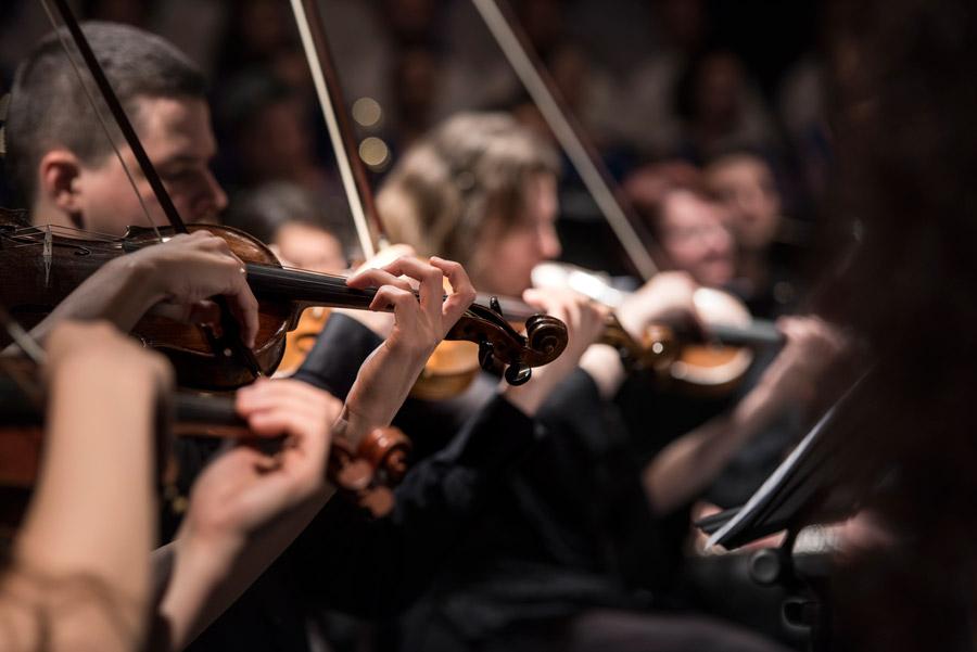 フリー写真 演奏中のヴァイオリニスト