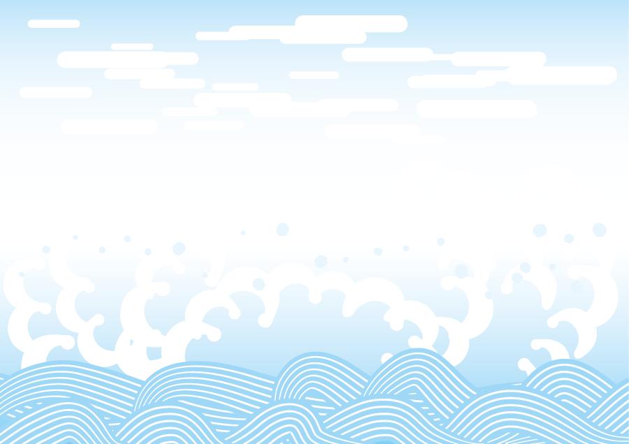 フリーイラスト 和柄の波の背景