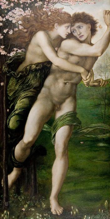 フリー絵画 エドワード・バーン=ジョーンズ作「ピュリスとデーモポーン」