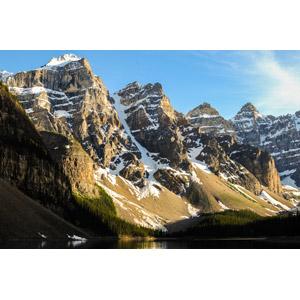 フリー写真, 風景, 自然, 山, テンピークス, ロッキー山脈, バンフ国立公園, 世界遺産, カナダの風景, アルバータ州