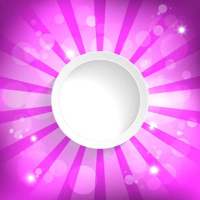フリーイラスト 白い円とピンク色の放射状の背景
