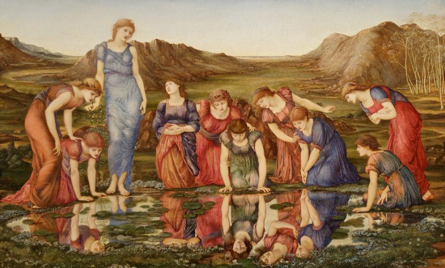 フリー絵画 エドワード・バーン=ジョーンズ作「ヴィーナスの鏡」