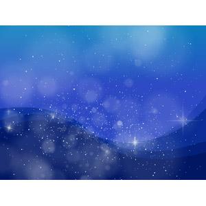 フリーイラスト, ベクター画像, AI, 背景, 夜空, 夜, 星(スター), 玉ボケ, 青色(ブルー)