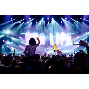 フリー写真, 人物, 人込み(人混み), 観客, 音楽, コンサート(ライブ), 歌手, スポットライト, 歌う
