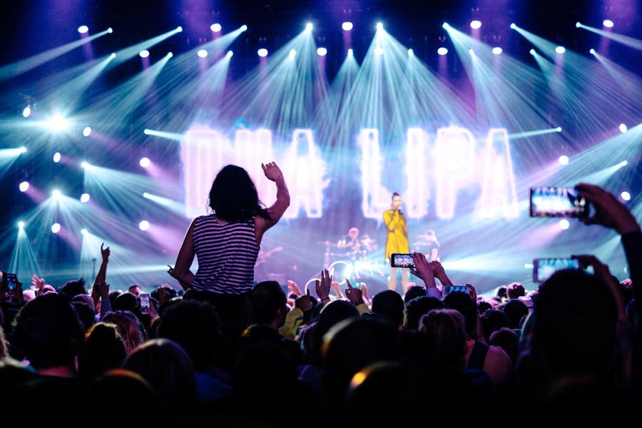フリー写真 デュア・リパのコンサート風景