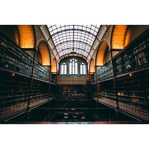 フリー写真, 風景, 建造物, 建築物, 図書館, 本棚, オランダの風景, アムステルダム