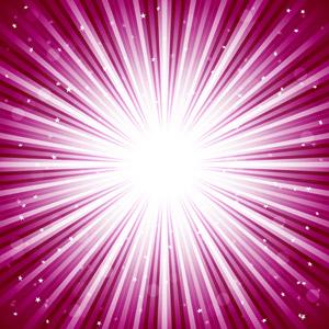 フリーイラスト, ベクター画像, AI, 背景, 抽象イメージ, 光(ライト), 放射線状, ピンク色, 閃光, 星(スター)