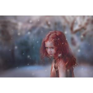 フリー写真, 人物, 子供, 女の子, 外国の女の子, リトアニア人, 雪, 冬