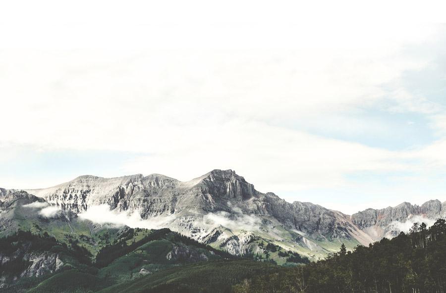フリー写真 コロラドのロッキー山脈の風景