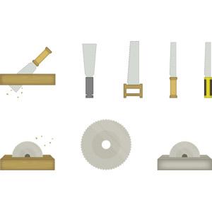 フリーイラスト, ベクター画像, AI, 工具, 鋸(のこぎり)