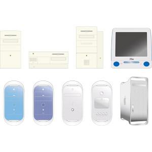 フリーイラスト, ベクター画像, AI, 家電機器, パソコン(PC), デスクトップパソコン, アップル(Apple), iMac, Power Mac