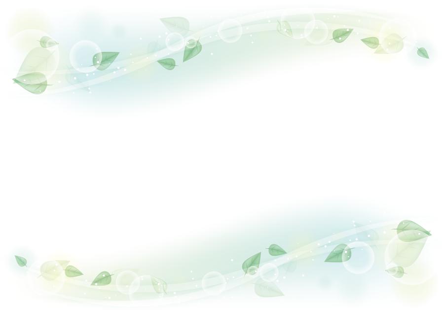 フリーイラスト 風に吹かれる葉っぱの飾り枠