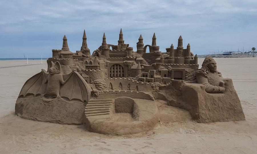 フリー写真 砂の城