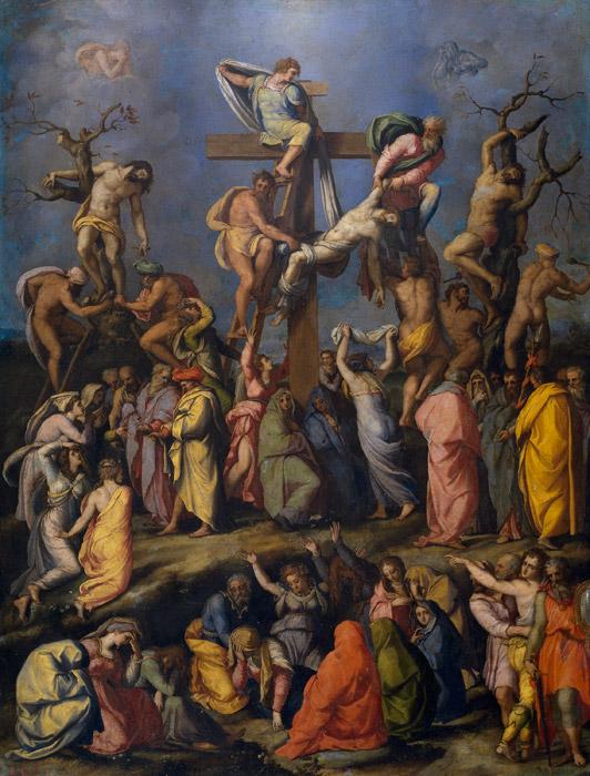 フリー絵画 アレッサンドロ・アッローリ作「十字架降架」