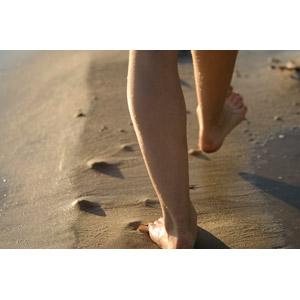 フリー写真, 人体, 足, ビーチ(砂浜)