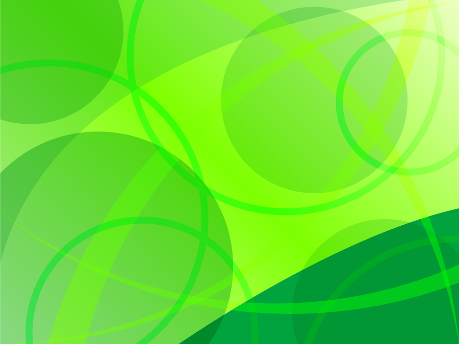 フリーイラスト 緑色の円と曲線の背景