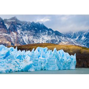 フリー写真, 風景, 自然, 氷, 氷河, 山, 湖, パタゴニア, チリの風景, トーレス・デル・パイネ国立公園