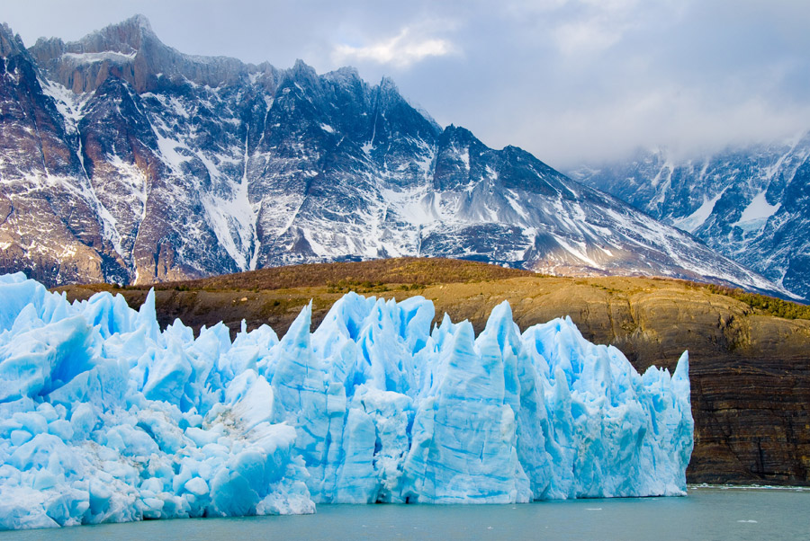 フリー写真 パタゴニアの氷河の風景