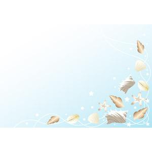 フリーイラスト, ベクター画像, AI, 背景, 貝殻, 夏, 海, ヒトデ