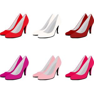フリーイラスト, ベクター画像, AI, 靴(シューズ), ハイヒール, パンプス, レディースファッション