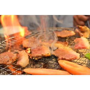 フリー写真, 食べ物(食料), 料理, 肉料理, 焼肉(焼き肉), 日本料理, 食肉, 野菜, 調理, 火(炎)