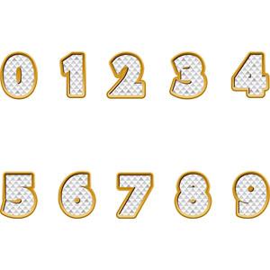 フリーイラスト, ベクター画像, AI, 数字, 0(零), 1(一), 2(二), 3(三), 4(四), 5(五), 6(六), 7(七), 8(八), 9(九)