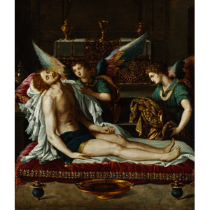 フリー絵画, アレッサンドロ・アッローリ, 宗教画, キリスト教, イエス・キリスト, 天使(エンジェル), 死, 聖油