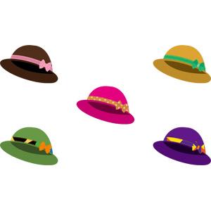 フリーイラスト, ベクター画像, AI, 帽子, ボーラーハット, レディースファッション