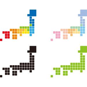 フリーイラスト, ベクター画像, AI, 地図, 日本地図, 日本の地形