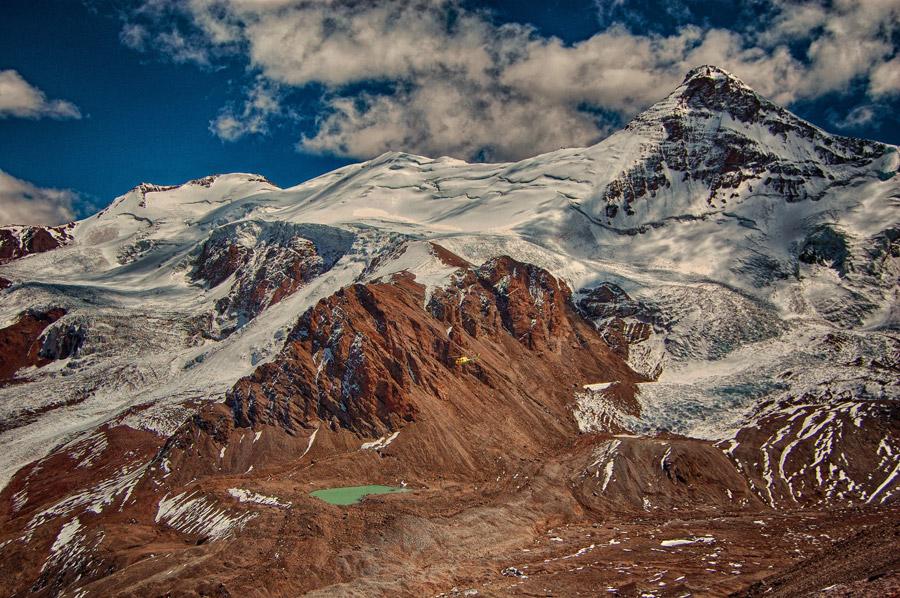 フリー写真 アコンカグアの山の風景
