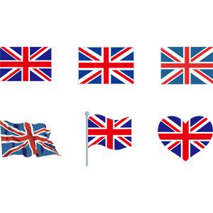 フリーイラスト, ベクター画像, AI, 国旗, 旗(フラッグ), イギリスの国旗(ユニオンジャック)