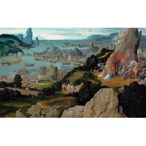 フリー絵画, ヨアヒム・パティニール, 宗教画, キリスト教, アレクサンドリアのカタリナ, 天使(エンジェル), 処刑, 祈る(祈り)