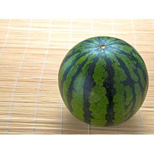 フリー写真, 夏, 簾(すだれ), 食べ物(食料), 果物(フルーツ), 西瓜(スイカ)