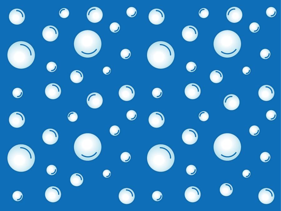 フリーイラスト 水の中の泡の風景