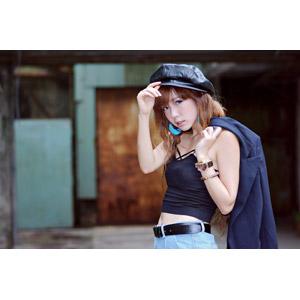 フリー写真, 人物, 女性, アジア人女性, 薩琳 (00213), 中国人, 帽子, キャミソール