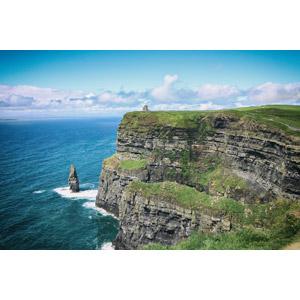 フリー写真, 風景, 自然, 崖, 海, 海岸, モハーの断崖, オブライアン塔, 海食柱, アイルランドの風景