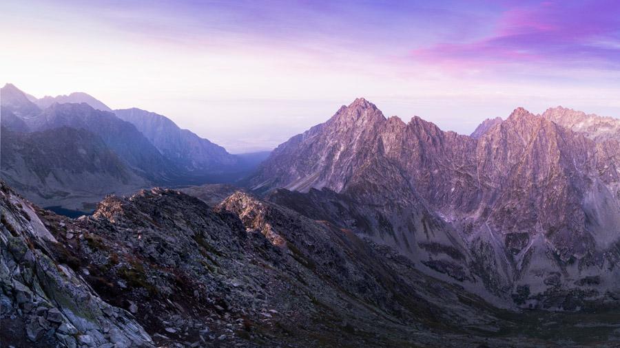 フリー写真 ロッキー山脈の風景