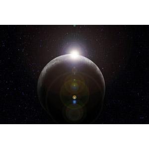 フリーイラスト, 天体, 宇宙, 月, 太陽光(日光)